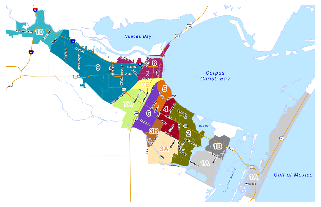 Zip Code Map Corpus Christi | Zip Code MAP