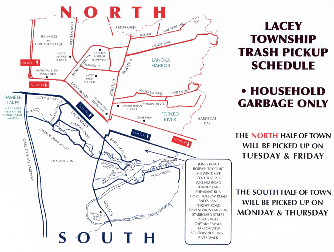Lacey Township Garbage Collection Schedule Photos And